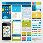 pic of video chat  - Flat icons and ui web elements for mobile app and website design - JPG