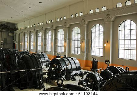 RJUKAN, NORWAY - JULY 07. Interior of the hydroelectric plant on July 07, 2010 in Rjukan, Norway.