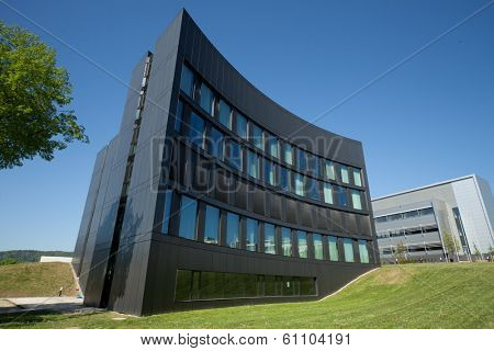 JENA, GERMANY - MAY, 08, 2011: ABBE Center of Photonics (ACP) Campus Beutenberg in Jena. Germany