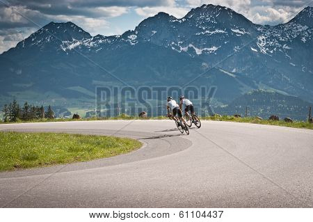 Biking in the Alps