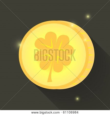 St Patrick Day Gold Coin Icon