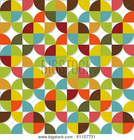 Colorful geometric seamless set
