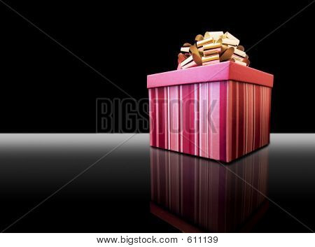 Gift Box Pink On Black
