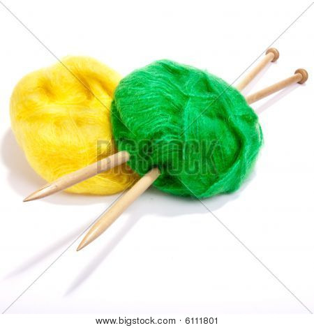 Yellow And Green Mohair