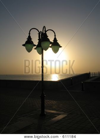 Street Lamp Sunset
