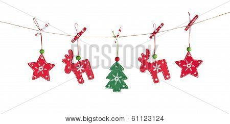 wooden Christmas decorations