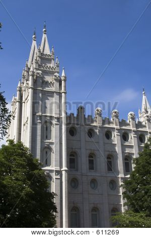 Salt Lake Temple South And West Side