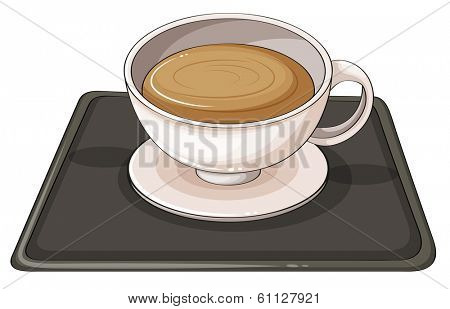 Illustration of a cup of hot choco on a white background