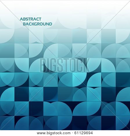 Modern geometrical abstract background.  Blue color. eps 10