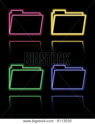 Neon folders