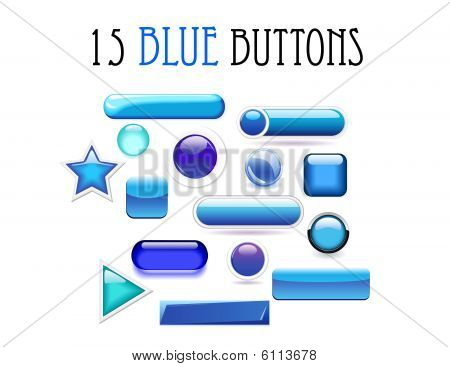 Blue buttons set