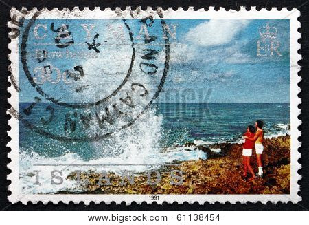 Postage Stamp Cayman Islands 1991 Blowholes, Island Scene