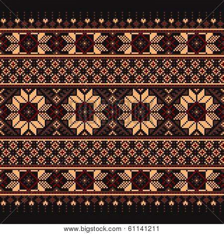 Vector illustration of ukrainian folk seamless pattern ornament. Ethnic ornament