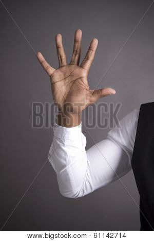 African American Five Finger on a hand