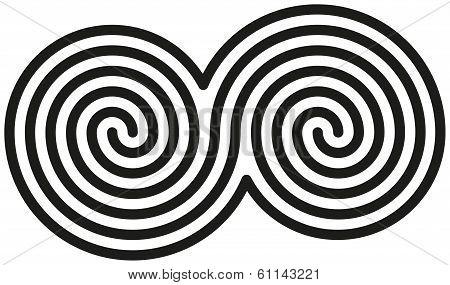 Celtic Double Spirals