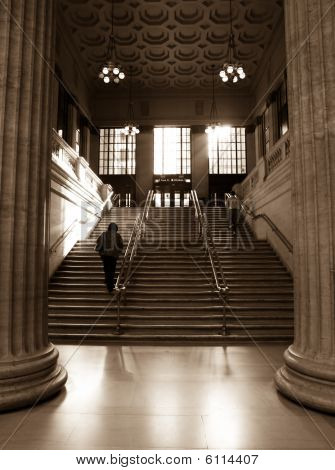 Grand Staircase Of Union Station, Chicago Train Station