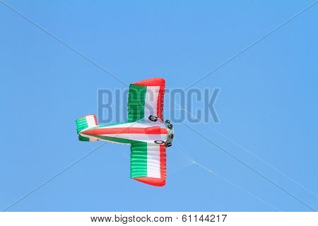 Plane kite against blue sky
