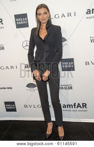 NEW YORK-FEB 5: Model Alina Baikova attends the 2014 amfAR New York Gala at Cipriani Wall Street on February 5, 2014 in New York City.
