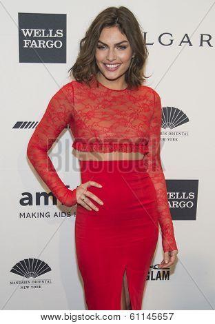 NEW YORK-FEB 5: Model Alyssa Miller attends the 2014 amfAR New York Gala at Cipriani Wall Street on February 5, 2014 in New York City.