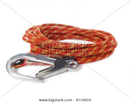 Red roupe and carabiners
