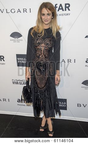 NEW YORK-FEB 5: Alexia Niedzielski attends the 2014 amfAR New York Gala at Cipriani Wall Street on February 5, 2014 in New York City.
