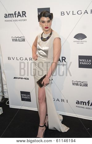 NEW YORK-FEB 5: Model Crystal Renn attends the 2014 amfAR New York Gala at Cipriani Wall Street on February 5, 2014 in New York City.
