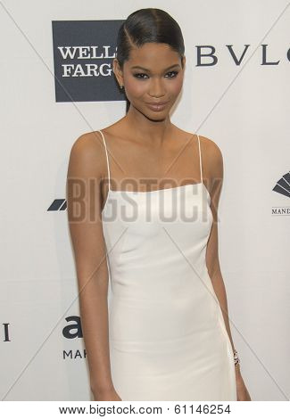 NEW YORK-FEB 5: Model Chanel Iman attends the 2014 amfAR New York Gala at Cipriani Wall Street on February 5, 2014 in New York City.