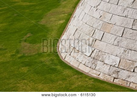 Lawn And Wall