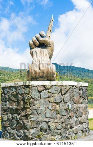Fortuna Dam Statue In Panama