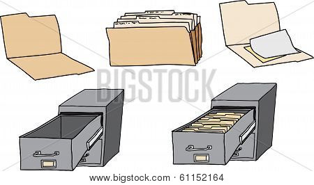 Folders And Filing Cabinet