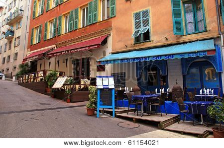 Oriental Ethnic Restaurants In The Old Town Nice, France.
