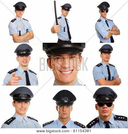 Mosaic of police men
