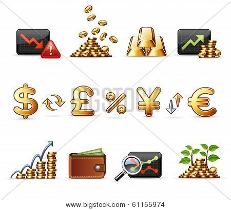 Finance, Money- and Economy - Harmony Icon Set 05