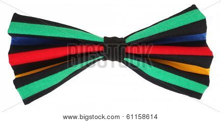Funny colorful multicolor bow tie