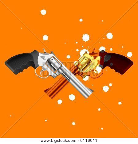 Guns. Vector illustration.