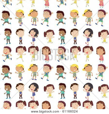 Illustration of the different emotion of kids on a white background