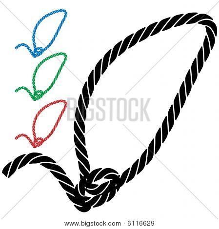 ícone de corda de laço