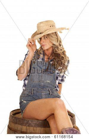 Cowgirl On a Barrel