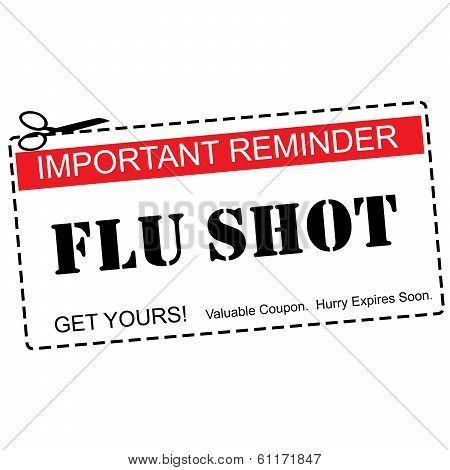 Flu Shot Reminder Coupon Concept