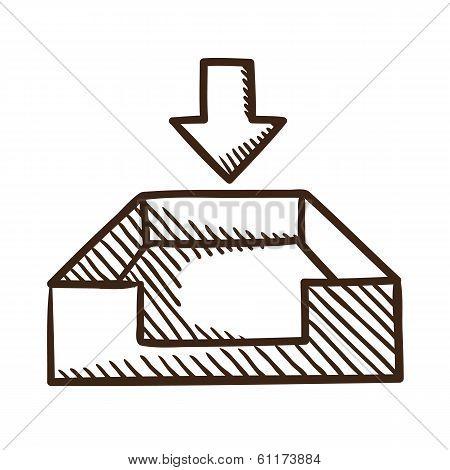 Incoming files symbol.