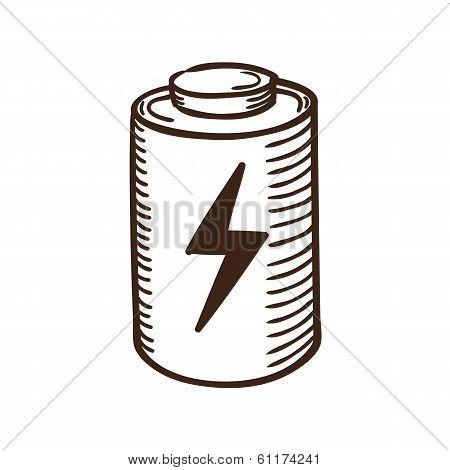 Battery symbol.