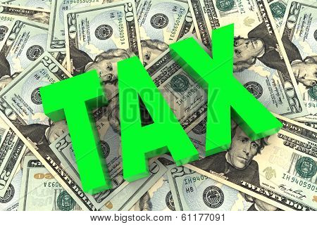 Tax On Money Background