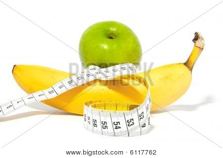 Apple And Banana With Measure Tape