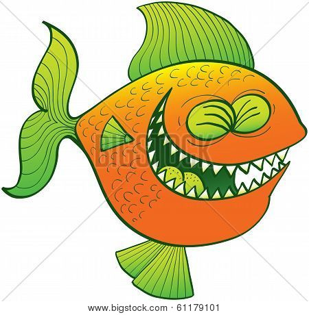 Cool fish laughing
