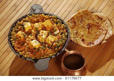 Mattar Paneer Is A North Indian Dish
