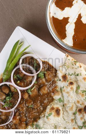 Chickpeas In Spicy Gravy From North India