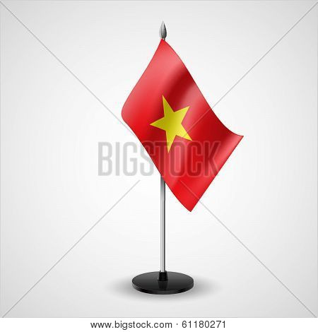 Table flag of Vietnam