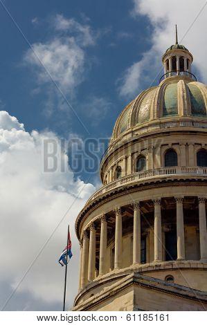 Capitolio En La Havana And Sky