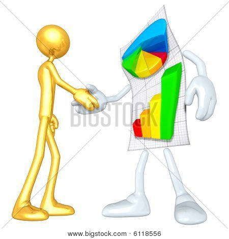 Gold Guy Business Report Handshake