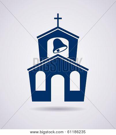 Vector  Icon Of Church Building
